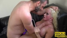 Throated busty submissive